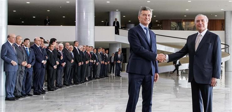 Foto: Telam. Macri y Temer